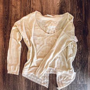 Free People lightweight sweater/shirt.